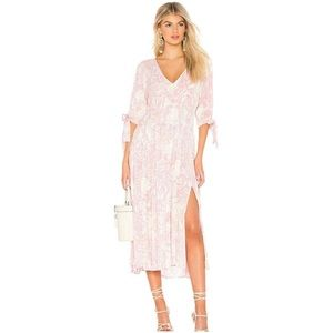 NWOT Free People Floral Pintuck Maxi Dress